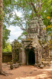 Entrance in The Jungle. In Angkor Complex Royalty Free Stock Photography