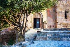 Entrance of Jvari Monastery in Mtskheta, Georgia Stock Photo