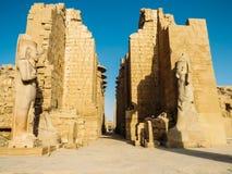 Entrance of the Karnak Temple Royalty Free Stock Photos