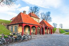 Entrance of the Kastellet Copenhagen royalty free stock photo