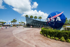 Entrance of Kennedy Space Center royalty free stock photos