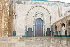 Entrance King Hassan II Mosque, Casablanca Stock Photo