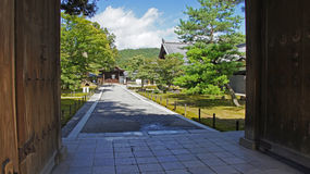 Entrance of Kinkaku ji, golden temple in Kyoto Stock Photo