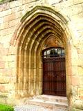 Entrance in Kirchenburg (Harman) fortified church Royalty Free Stock Image