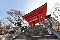 Entrance of Kiyomizu-dera Temple in Japan Royalty Free Stock Images