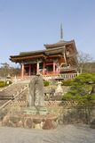Entrance of Kiyomizu-dera temple, Kyoto, Japan. Stock Photography