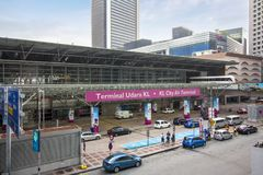 The entrance of KL Sentral, the largest transporation hub in Malaysia Royalty Free Stock Image