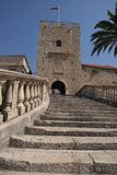 Entrance in Korcula stock photography