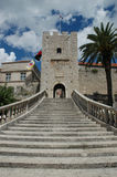 Entrance in Korcula. Entrance staircase in town of Korcula, Croatia stock image