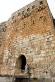Entrance of Krak des Chevaliers, Syria Stock Image