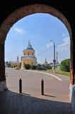 Entrance into Kremlin in historical centre of Kolomna city Royalty Free Stock Image