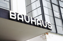 Entrance with label of the Bauhaus Royalty Free Stock Images