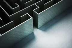 Entrance of labyrinth path for business concept Stock Photo