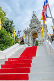 Entrance ladder of Wat Phra That Cho Hae, Thailand Stock Images