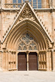 Entrance in Lala Mustafa Pasha Mosque (formerly St. Nicholas Cathedral), Famagusta, Northern Cyprus Royalty Free Stock Image