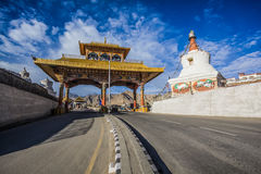 Entrance of Leh city. In the Indian State of Jammu and Kashmir royalty free stock images