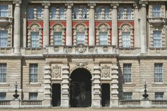 Entrance - London. Front, architecture, london. fragment of building near buckingham palace stock photos
