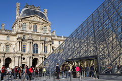 Entrance of the Louvre museum Royalty Free Stock Photos