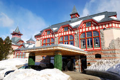 Entrance of the luxury hotel at Strbske Pleso Stock Images