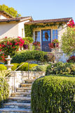 Entrance of a luxury house over outdoor landscape Royalty Free Stock Photography