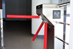 Entrance machine in soft light Stock Photos