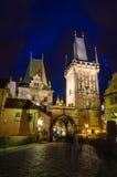 Entrance in Mala Strana from Charles Bridge Royalty Free Stock Photo