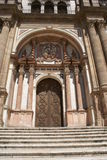 Entrance, Malaga Cathedral, Andalusia, Spain Royalty Free Stock Photos