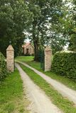 Entrance of manor listed as monument in Kirchdorf, Mecklenburg-Vorpommern, Germany.  Stock Photos