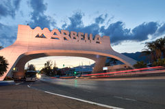 Entrance of Marbella arch. Royalty Free Stock Image