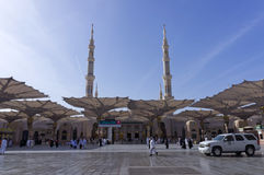 Entrance of Masjid (mosque) Al Nabawi in Medina Royalty Free Stock Image