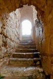 Entrance in medieval Ajlun Castle, Jordan Stock Images