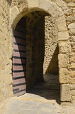Entrance in Medieval castle Stock Images