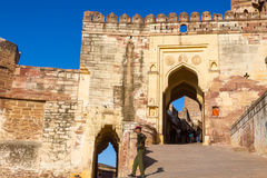 Entrance at Mehrangarh Fort Stock Photography