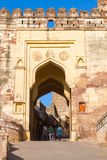 Entrance at Mehrangarh Fort Royalty Free Stock Photography