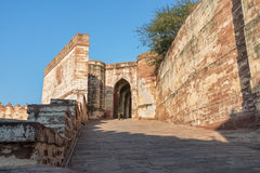 Entrance at Mehrangarh Fort Royalty Free Stock Images