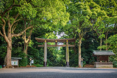 Entrance at Meiji-jingu temple in Central Tokyo. Stock Photography