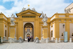 Entrance of Melk Abbey, Austria Royalty Free Stock Photos