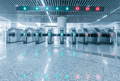 Entrance of metro railway station for cripple. Royalty Free Stock Photos