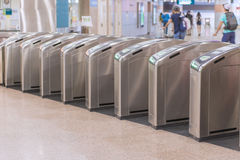 Entrance of metro railway station, MRT rail Stock Images