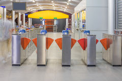 Entrance of metro railway station, MRT rail in Thailand Stock Photos