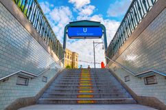 Entrance of a metro station in Berlin, Germany Stock Photography
