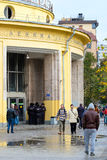 Entrance of the metro station Novokuznetskaya in Moscow Stock Photos