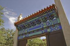 entrance ming pagodatombs arkivbild