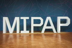 Entrance at Mipap trade show in Milan, Italy Royalty Free Stock Images