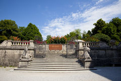 Entrance from  Mirabell gardens Royalty Free Stock Photos