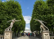 Entrance of the Mirabell palace gardens in Salzburg Royalty Free Stock Image