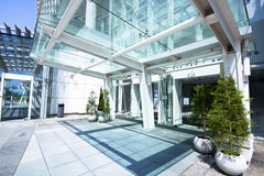 Entrance of modern office building Stock Photo