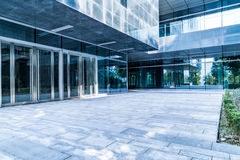 Entrance of modern office building royalty free stock photos