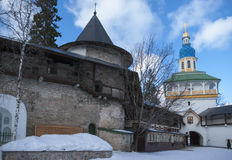 Entrance in monastery Stock Images