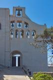 Entrance of Monastery Prophet Elias,  Santorini island, Thira, Greece Royalty Free Stock Image